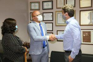 Agricultura e Educação são temas de reunião entre prefeito de Várzea Grande e deputado Franzé